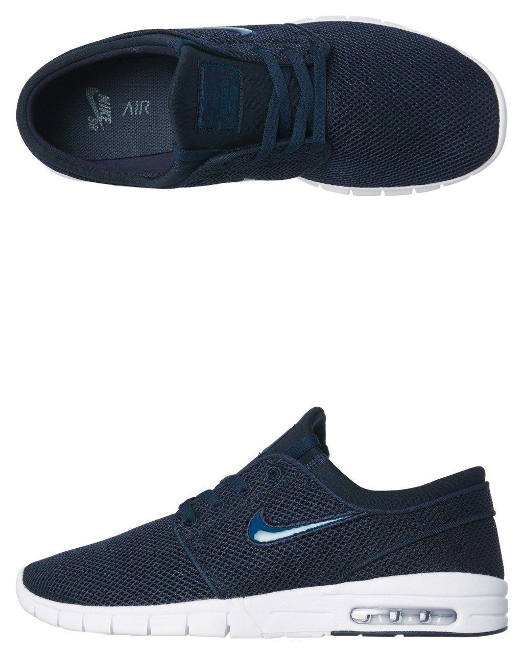 the best attitude 4c00e e04f4 Nike Mens Sb Stefan Janoski Max Shoe Obsidian White Obsidian White Womens  Sneakers Size 11