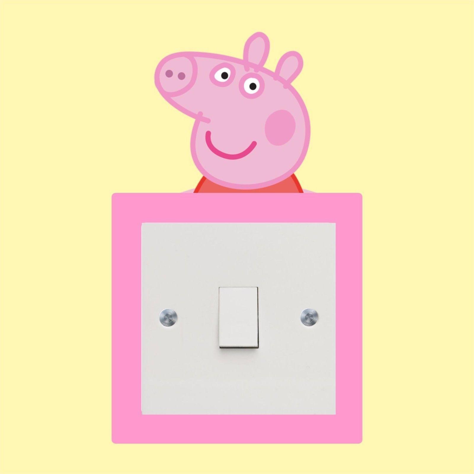 Peppa Pig_Light Switch_ Wall Art _Funny Decal Vinyl Sticker ...