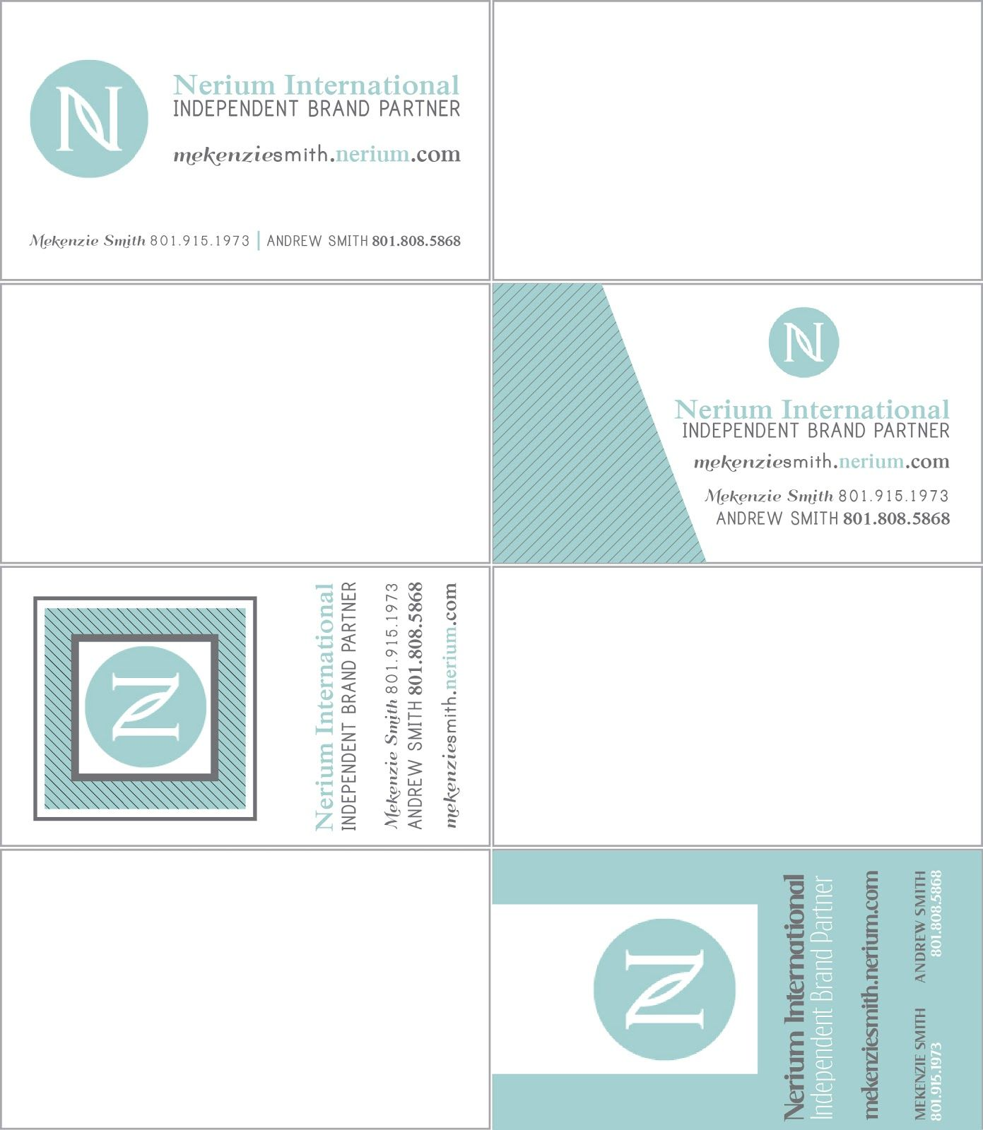 hillmark design nerium business card samples