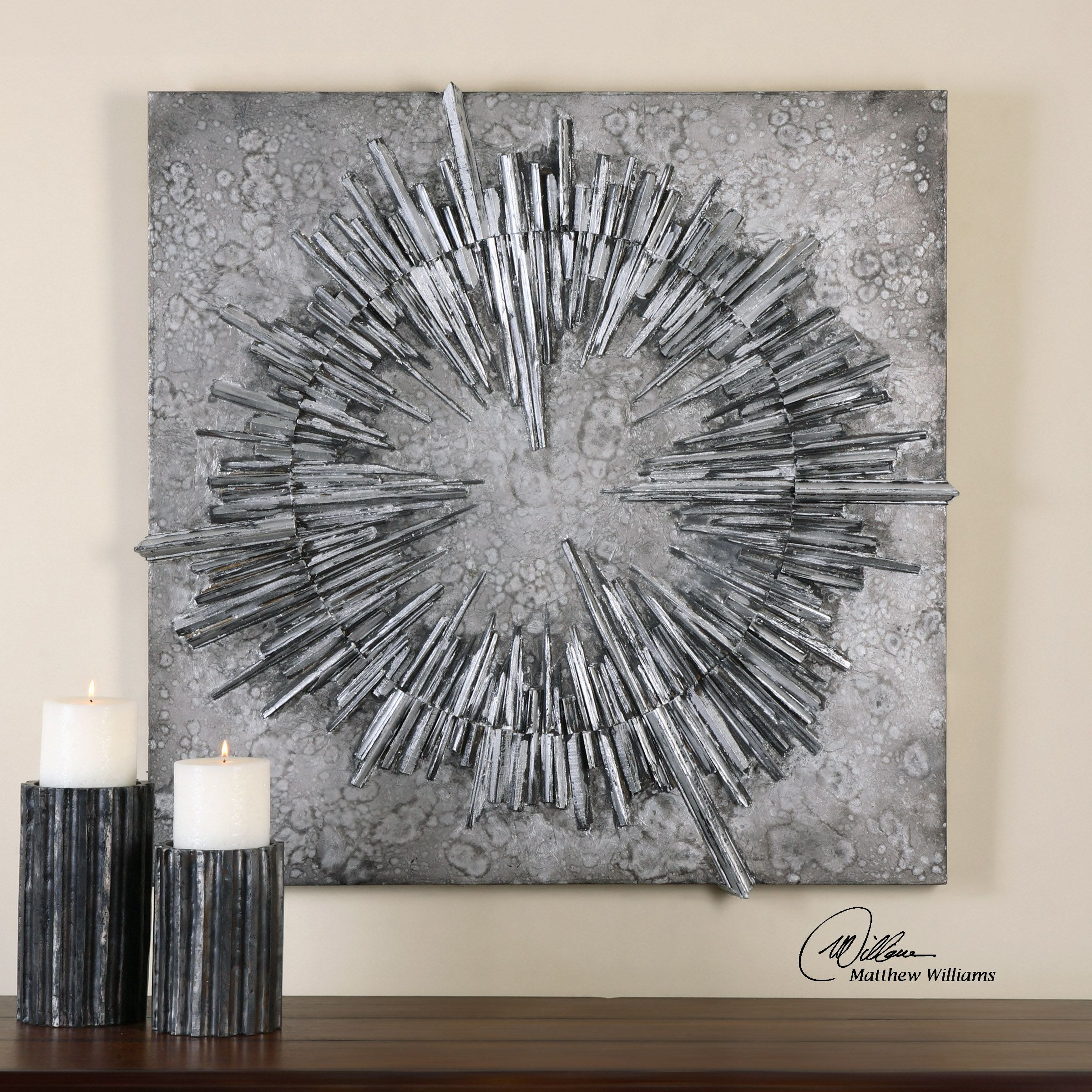 Nebulus Silver Wall Decor Silver Wall Art Silver Walls Silver