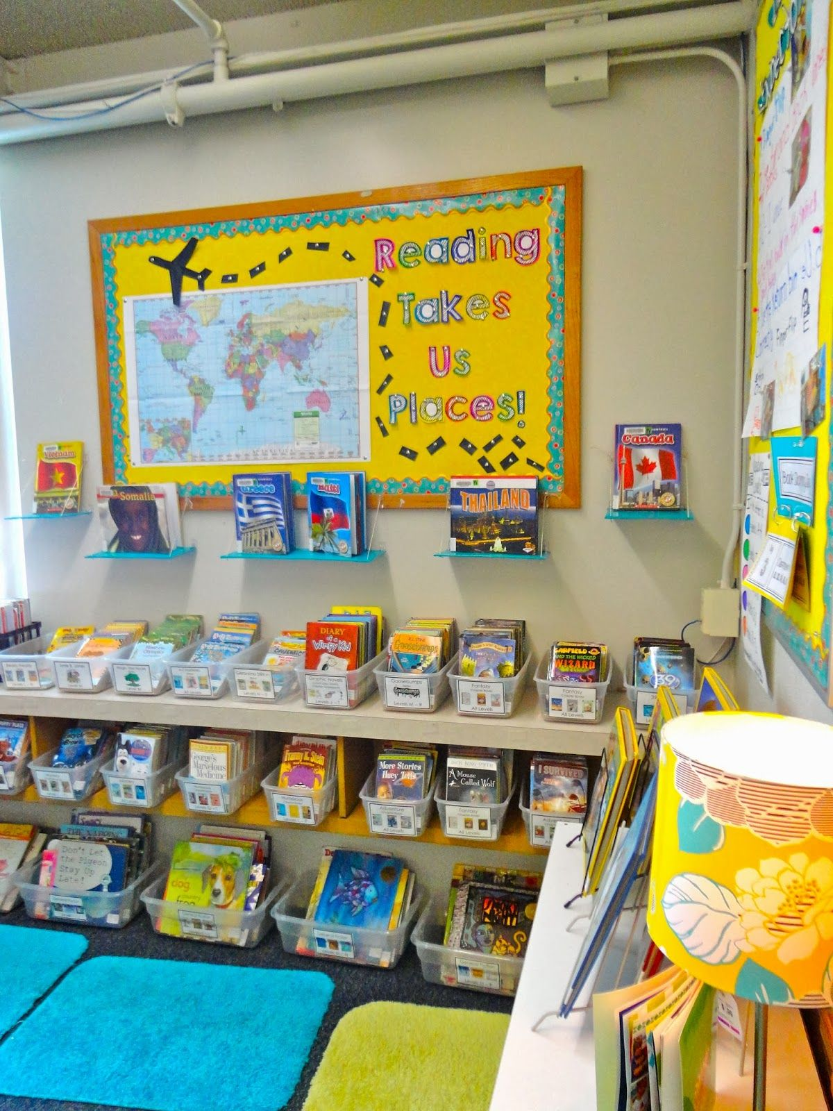 Reading Takes Us Places Bulletin Board Great For Global