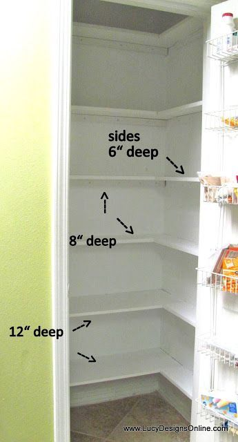 Pantry Makeover DIY Installing Wood Wrap Around Shelving to Replace Wire Shelves