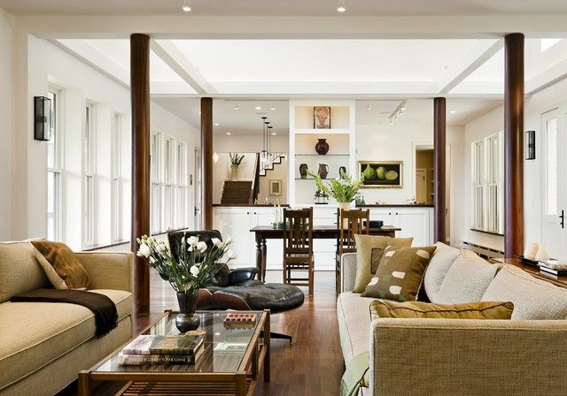 cosy mission style living room furniture. Hillside Residence Hanover NH  contemporary Living Room Burlington Smith Vansant Architects PC Separate but open Great Chairs and Staircase Craftsman Style Interiors Revival