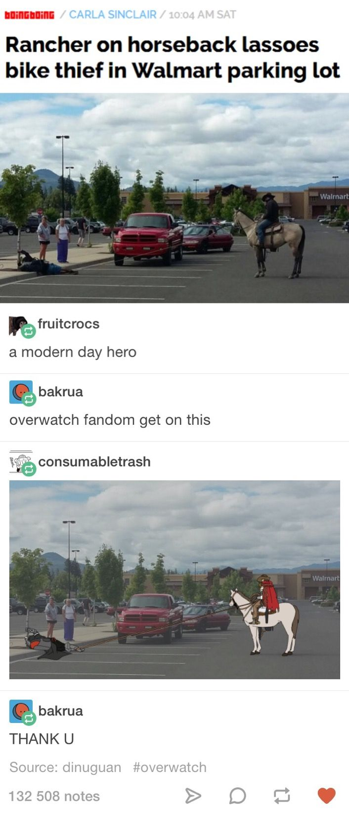 I love this cause it implies GABE was trying to steal a bike from the Walmart car park.