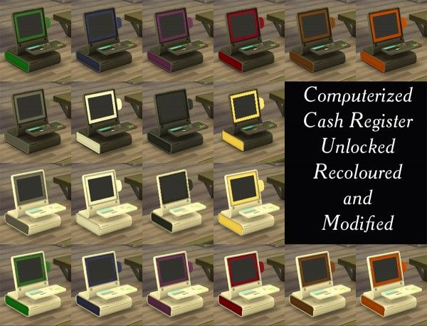 Mod The Sims: Computerized Cash Register by Simmiller • Sims 4 Downloads