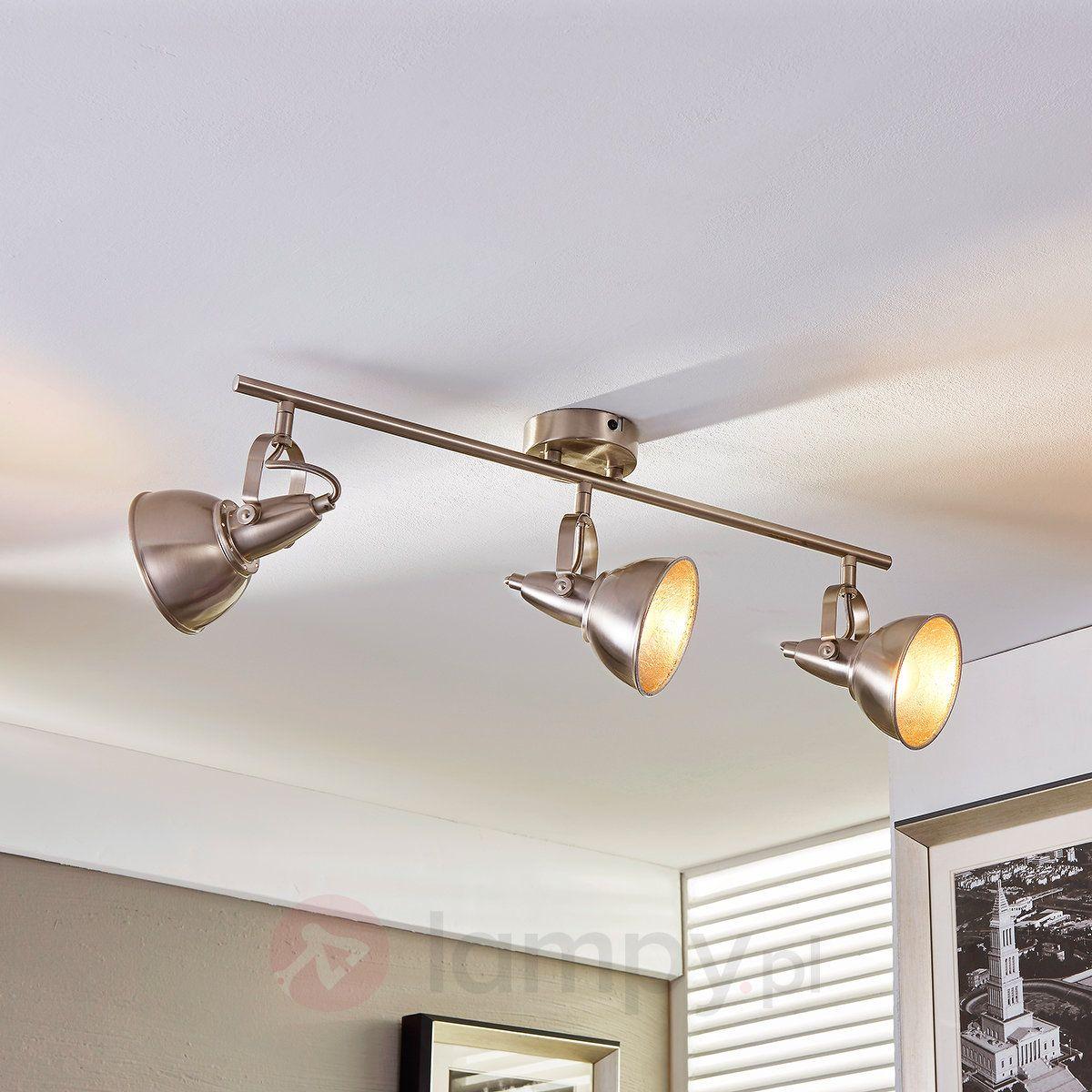 Julin Lampa Sufitowa Z Trzema Kloszami Ceiling Lamp Industrial Track Lighting Gold Wall Lights