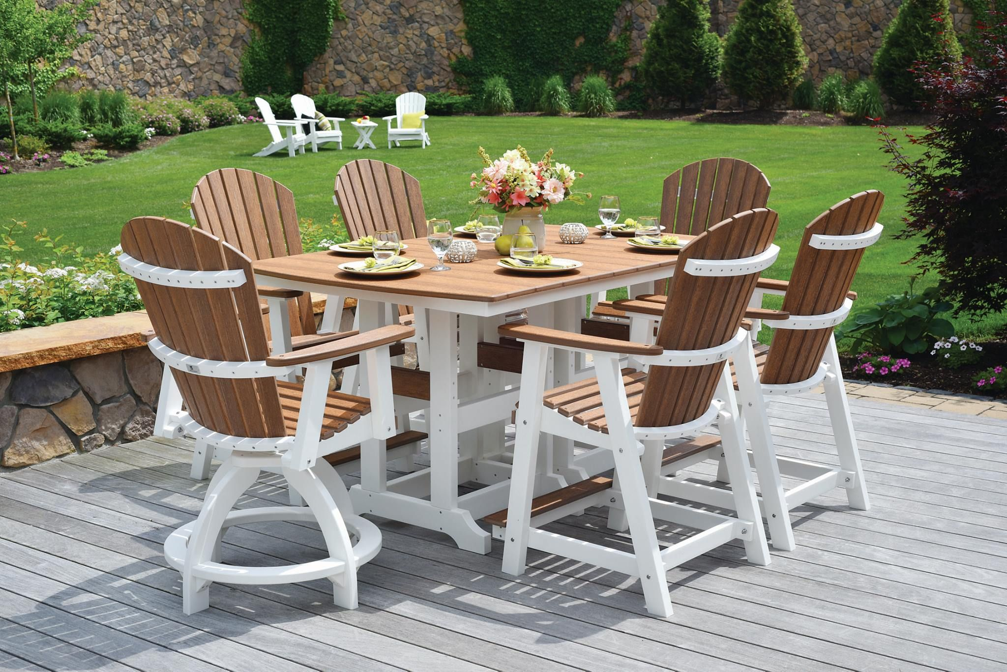 Natural finishes is a new finish available in our line of poly outdoor furniture it