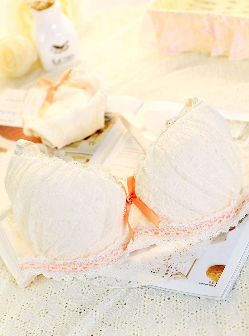 Hot Pure aesthetic princess lace underwear pink girl intimates push up bra set sweet juniors lingerie underwear bra $14.99 Buy it now: t.cn/zRciG1K