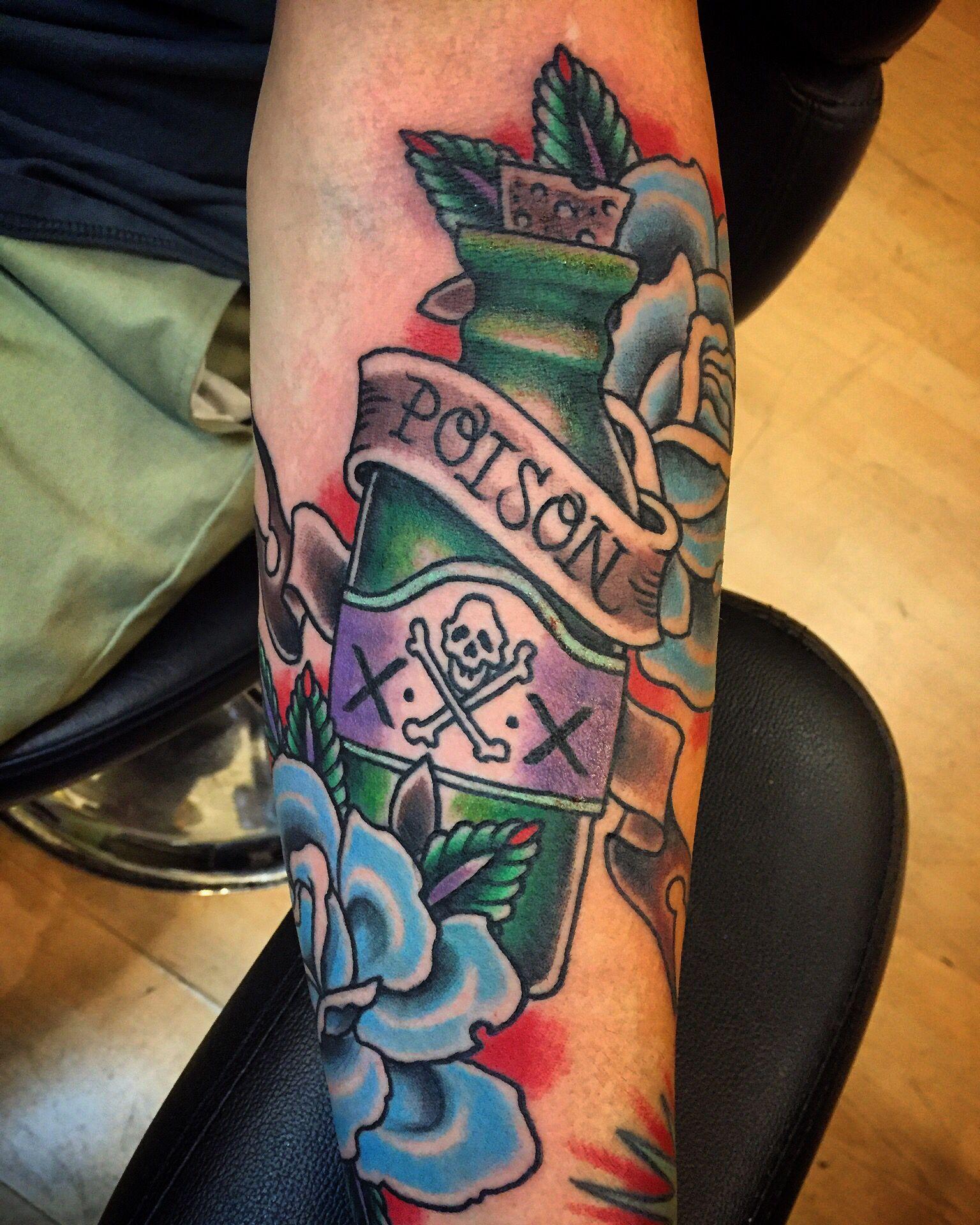 40 Poison Bottle Tattoo Designs For Men – Killer Ink Ideas