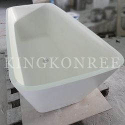 Artificial Marble Stone Square Shallow Bathtub
