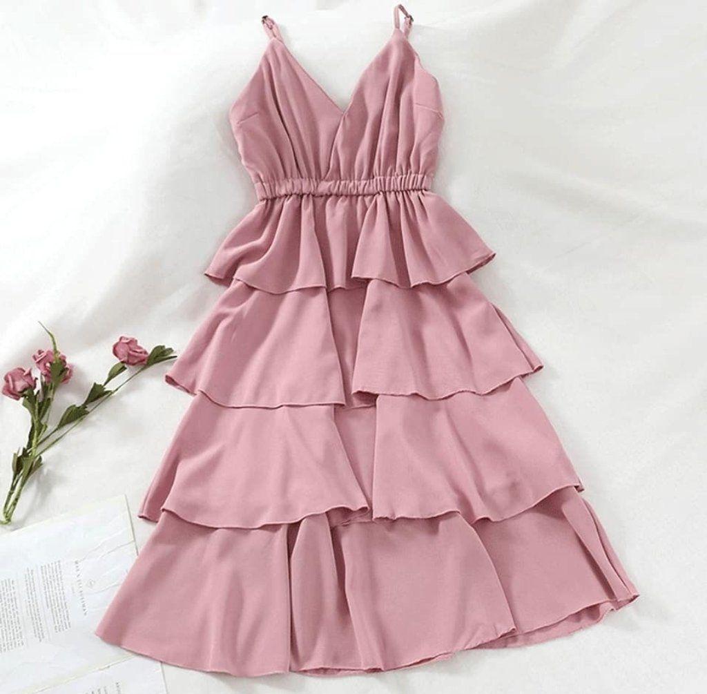 Janie Ruffle Dress Vintage Pink In 2020 Dresses Ruffle Dress Vintage Pink Dress [ 1005 x 1024 Pixel ]
