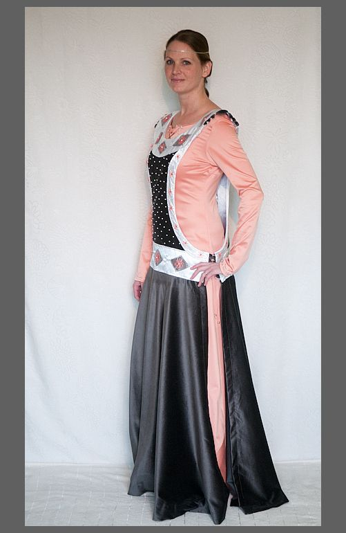 Luxury Medieval Robe Embroided Sideless Surcote with Undergown | eBay