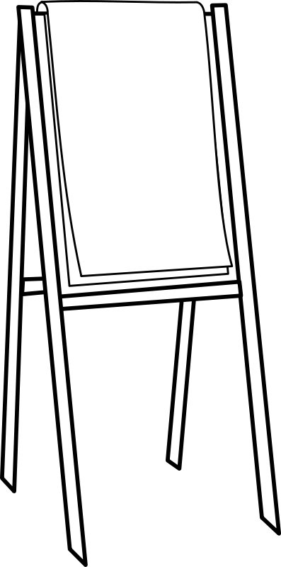 easel clipart black and white - Google Search | Clipart ...