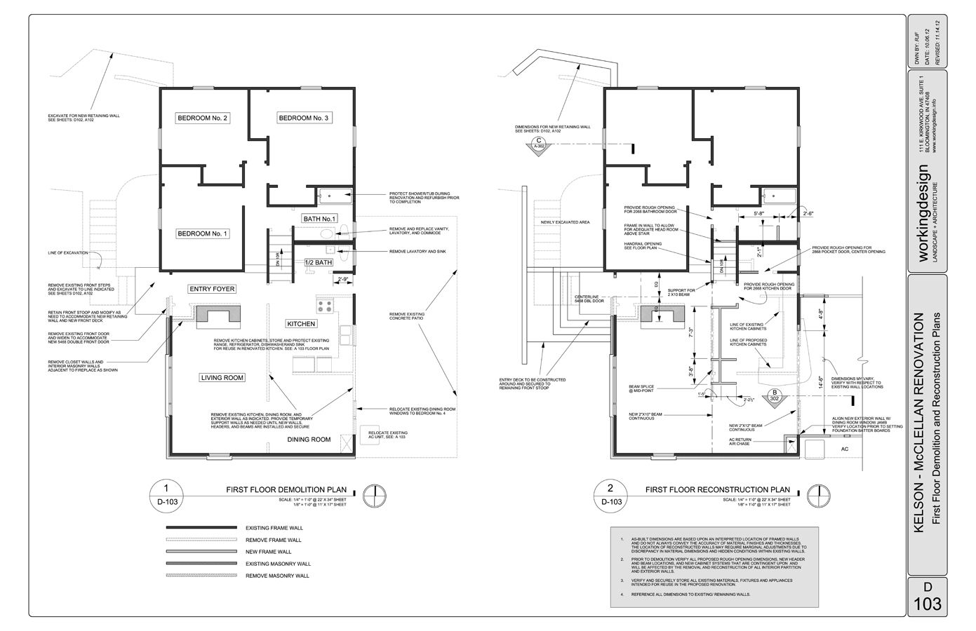 D 103 first floor demolition plan 1391 900 for Demolition plan template