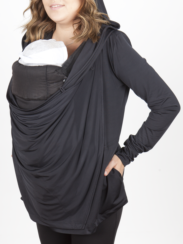 efbed6e8d34 Babywearing sweater and Nursing cover Large hood Large lined pockets Three  button loop holes Spandex/Nylon material with a soft buttery feel Made in  the USA ...