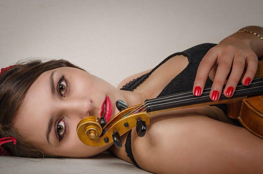 Sophie mit Geige