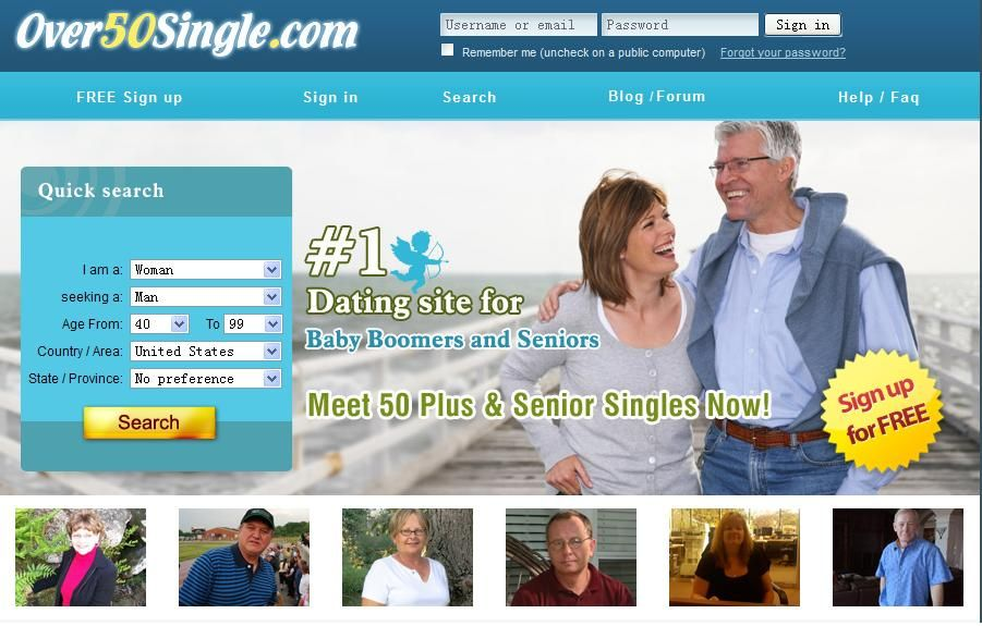 Dating service for 50 s