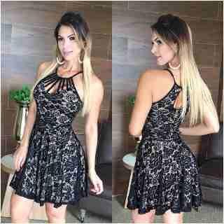 aa334b38cb Conjunto Cropped E Short De Renda Lindo  vlm798 - R  69