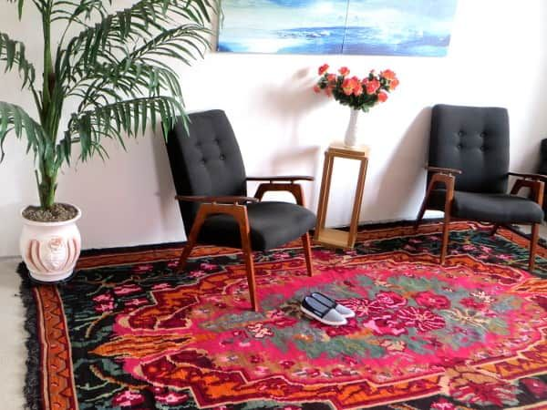 1.66x2.25m/5.4x7.4ft,rose kilim rug,wool berber rug,turkish overdyed ...
