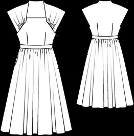 pattern for dress, burda, 4,99€ | mode zeichnen