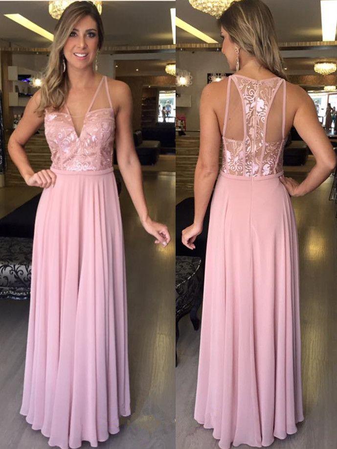 Charming Prom Dress,Sleeveless Chiffon Prom Dress,Long Evening Dress ...