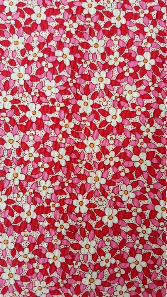 Oddies 100% Cotton Poplin Fabric - Pink Rose Ditsy Floral