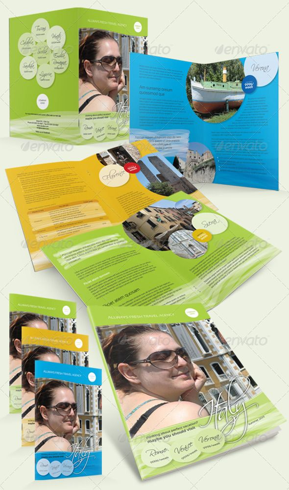 Holiday Travel Brochure  Travel Brochure Brochures And Print Templates