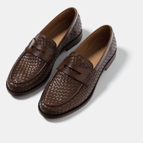 Pair Of Kings Men/'s Ace Black Woven Leather Tassel Slip-on Dress Shoes Loafer