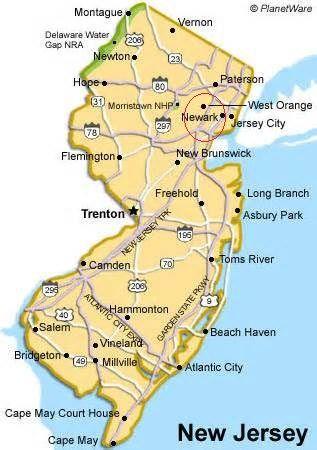 Ui Newjersey Map Willingboro New Jersey Pinterest Newark New
