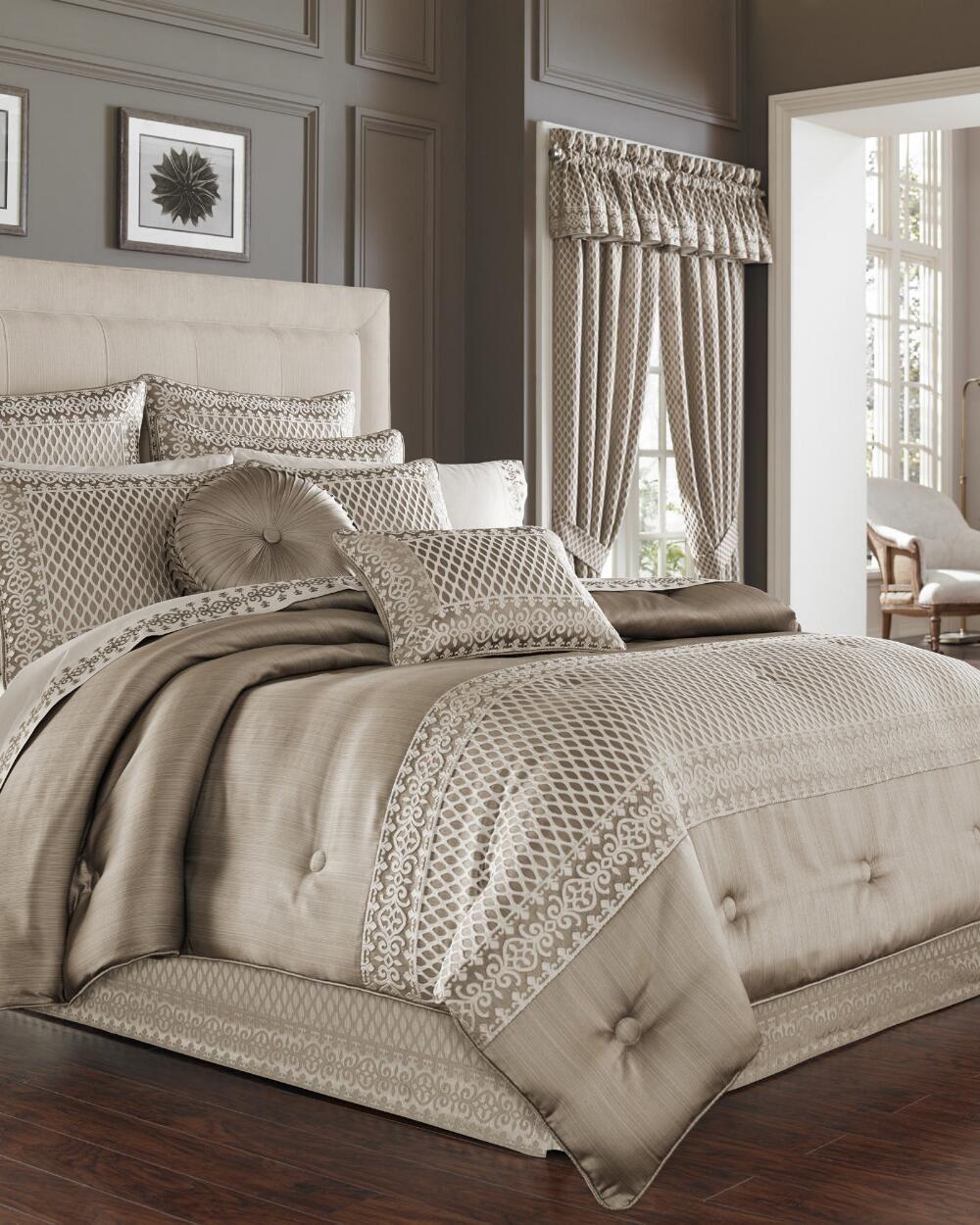 Beaumont Champagne Euro Sham Luxury Comforter Sets Comforter