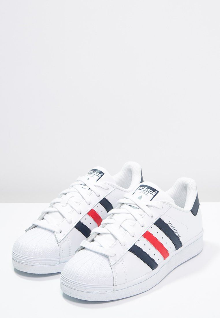 Lage sneakers adidas Originals SUPERSTAR FOUNDATION - Sneakers laag -  white collegiate navy red wit  89 fd6400be7