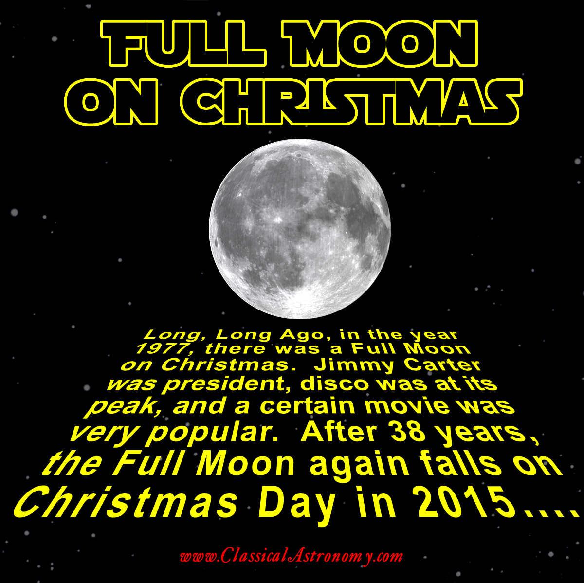 CHRISTMAS FULL MOON And the popular movie in question was