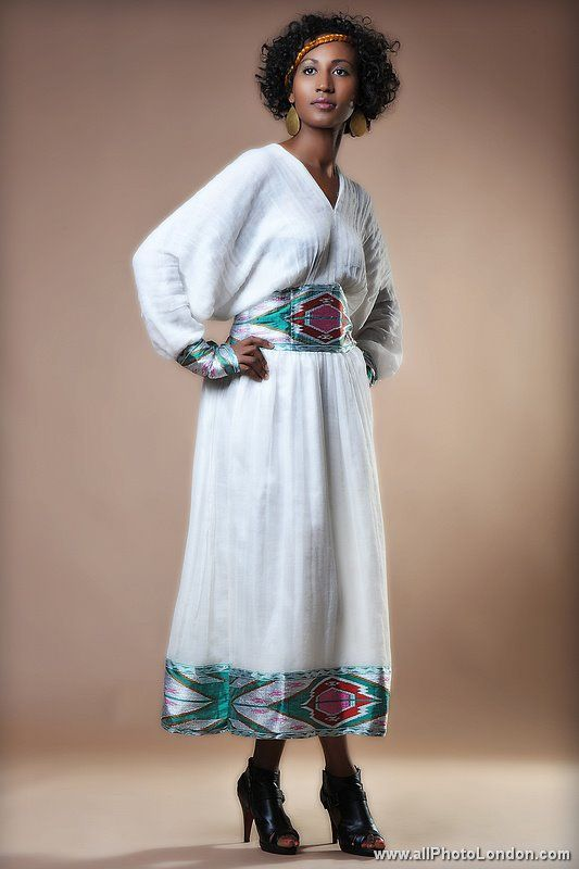 Habesha kemis dress habesha eritrean ethiopian for Ethiopian traditional wedding dress designer