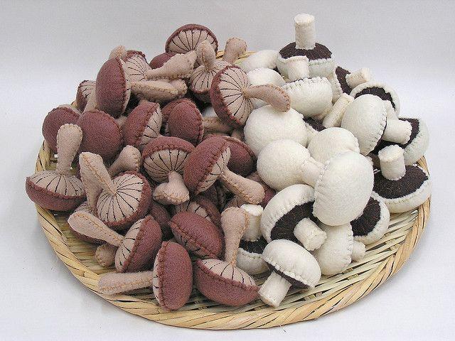 Felt mushrooms. I would like a basket full of these please.