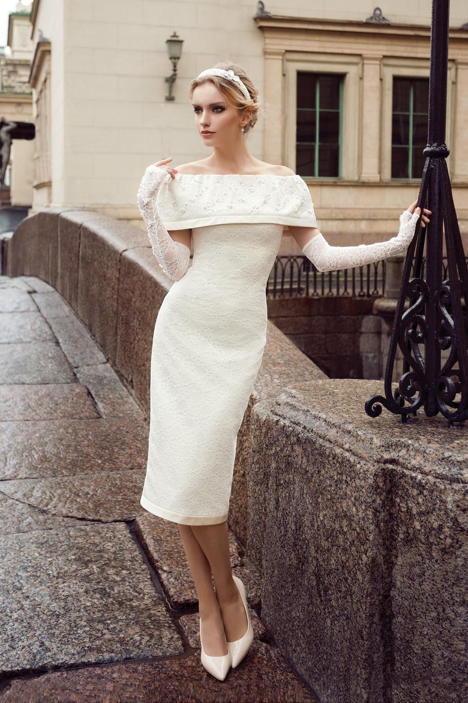 Свадебное платье миди купить в москве