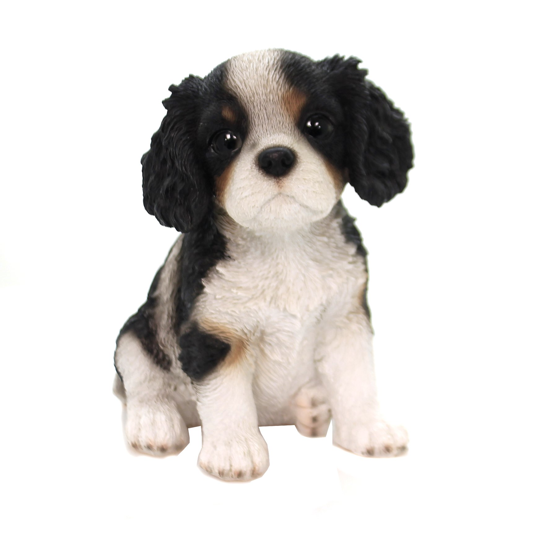 TINY ONES DOG Figurine Statue Pet Lovers Gift Resin CAVALIER black white
