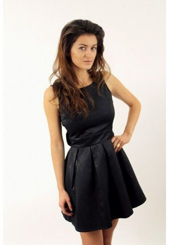 a3ad90e6 Rozkloszowana sukienka z kokardą | sukienki na wesele | Sukienka i ...