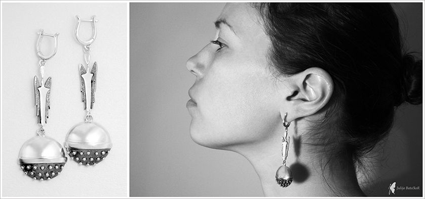 Earrings with angels. Made by J.Batecko