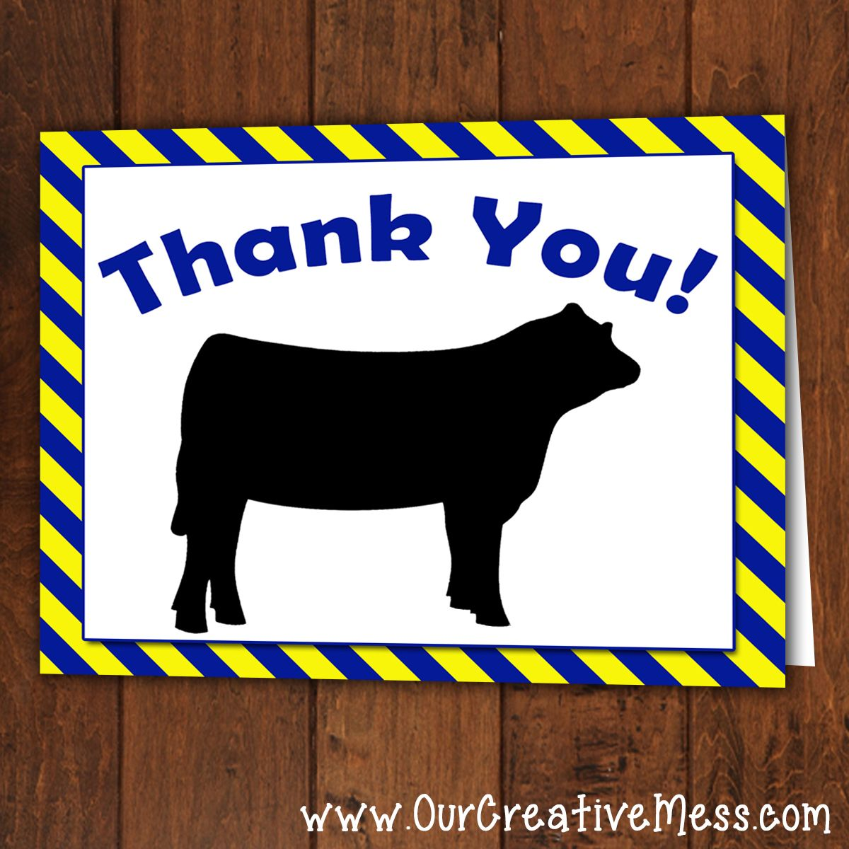 Stock Show Folded Stripped Thank You Auction Basket Letter Gifts Auction Baskets