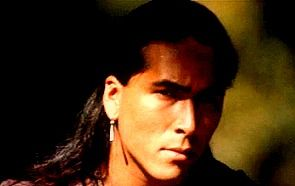 Uncas Last Of The Mohicans Played By Eric Schweig Native American Native American Actors Native American Men Eric Schweig 1919 oil painting (detail) by n.c. native american actors native american