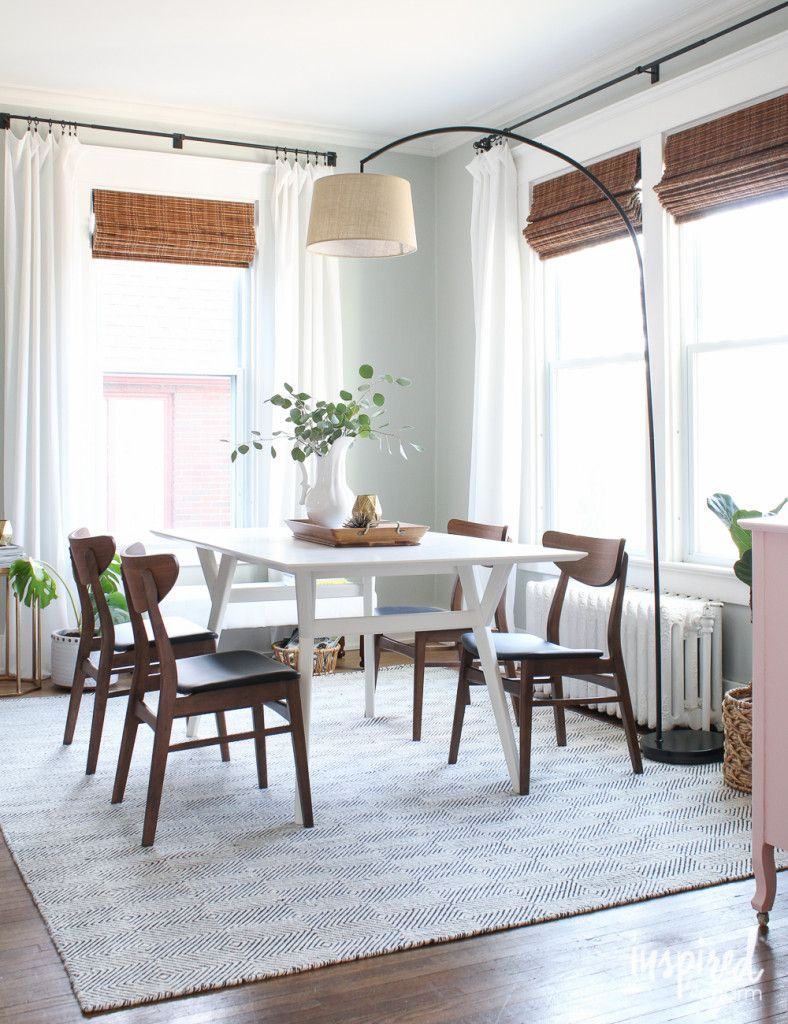 Using An Arc Lamp As An Overhead Light Above A Dining