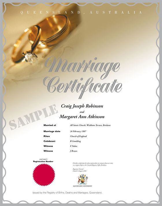 Have Your Marriage Certificate Attested in, Pune, Mumbai, Chennai - wedding certificate template