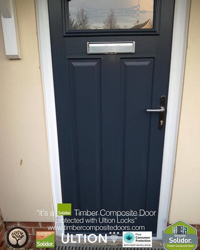 Anthracite Grey London Solidor Timber Composite Door From Timbercompositedoors Com With 12 Months 0 Interest Free Composite Door Composite Front Door Timber