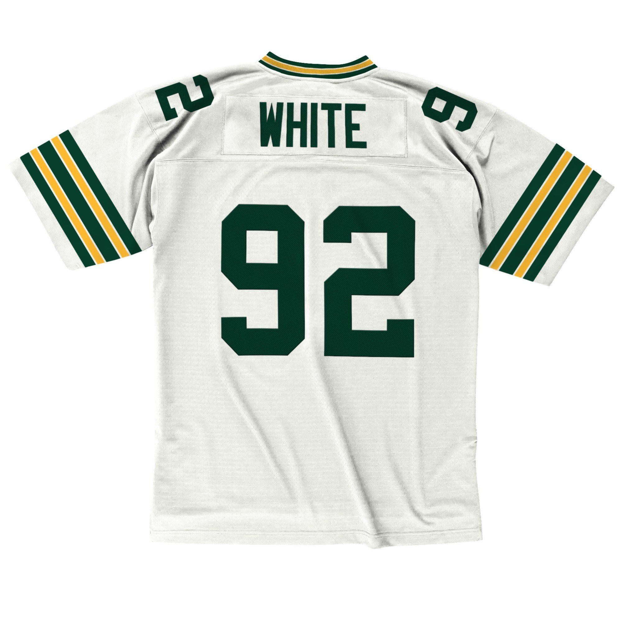 dc1e523e Men's Reggie White Green Bay Packers Mitchell & Ness White Retired Jersey