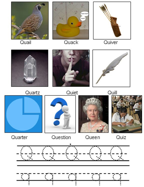 Picture Of Objects Starting With Letter Q Pictures Lettering