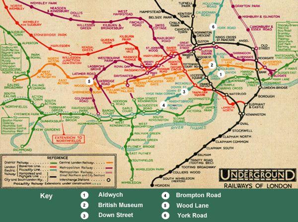 Old Tube Map London London Underground Map London Underground Tube Map London Underground Tube