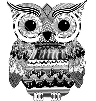 Black And White Owl Prints