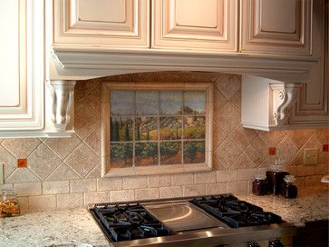Tuscany Kitchen Fabric Tuscan Marble Tile Mural In Italian Kitchen Backsplash Mediterranean Backsplash Tile Design Backsplash Designs My Home Design