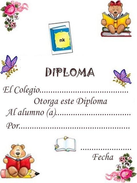 Dibujos y Plantillas para imprimir: Diplomas para imprimir ...
