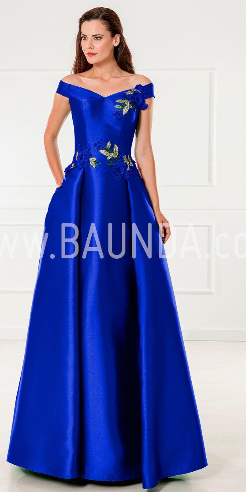 834b54e14 Vestido de madrina azulón 2018 XM 9836. Precioso vestido de fiesta largo  para boda realizado